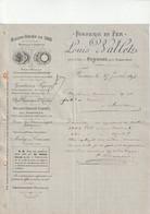 59-L.Wallet.....Fonderie En Fer.. Fresnes Près Condé..(Nord)...1898 - Other