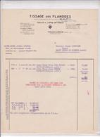 59-Tissages Des Flandres..Toiles & Linge De Table...Haubourdin...(Nord)...1955 - Textile & Clothing