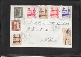 Somalia 1935, Raccomandata Da Vittorio D'Africa Per Milano- Firmata Colla (ref 1562b) - Somalia