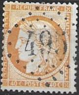 TP38,obl.GC495,Blangy Sur Bourbince(SAONE ET LOIRE),ind.5 - 1849-1876: Période Classique