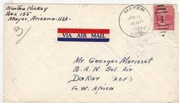 Stati Uniti (1954) - Busta Posta Aerea Per L'Africa Occidentale Francese - Covers & Documents