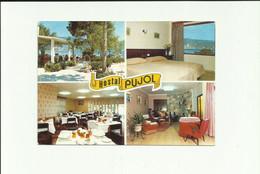 "CPM: ""HÔTEL ""PUJOL"" à PALMA NOVA .  MALLORCA  (espagne):   Multivues.   (G1513) - Hotel's & Restaurants"