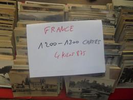 FRANCE 1200 à 1300 CARTES POSTALES MAJORITES ANCIENNES DONT CARNETS BEAU LOT De TRI (4 KILO 875) - 500 Postcards Min.