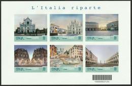 2021 Italia Repubblica Foglietto Serie Turistica: L'Italia Riparte - Blocks & Sheetlets