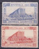 Vignette Cinderella Exposition Universelle Universal Exhibition Bruxelles Brussels 1935 - Unclassified