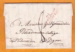 1822 - Marque Postale 61 BOULOGNE Sur Lettre Pliée Avec Corresp Familiale De 2 Pages De Denacre Vers DIJON - 1801-1848: Precursori XIX