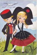 (34)  Alsace - Carte Costume Tissu, - Alsace