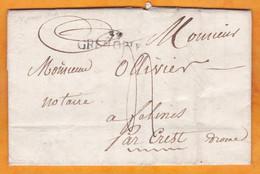 1820 - Marque Postale 37 GRENOBLE Sur Lettre Pliée Avec Corresp De 2 Pages Vers Félines Sur Rimandoule Par Crest, Drôme - 1801-1848: Precursori XIX