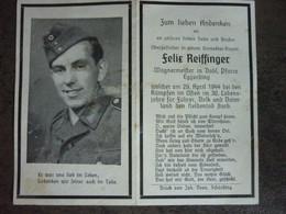 Faire Part De Deces Soldat Allemand Ww2 - 1939-45