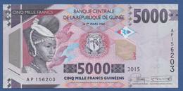 GUINEA - P.49a – 5.000 FRANCS 2015 UNC Serie AP156203 - Guinea