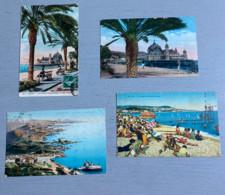 ALPES MARITIMES : 14 Cartes Postales (Nice-Juan Les Pins-Roquebrune-Venanson-Cagnes-Cannes-Cap Martin) 8 CP En N&B, 2 N' - Unclassified