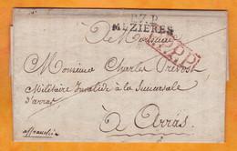 1815 - Marque Postale P7P MEZIERES Sur Lettre Pliée Avec Correspondance Fraternelle 3 Pages  Vers ARRAS - Port Payé PPPP - 1801-1848: Precursori XIX