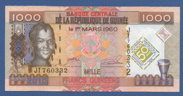 """GUINEA - P.43a – 1.000 FRANCS 2010 UNC Serie JT760332 """"50th Anniversary Of Central Bank And Guinean Currency"""" - Guinea"""