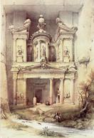 PETRA - Al Khazneh - Illustrateur David Roberts 1839 - Jordan