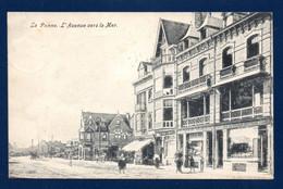 La Panne. L'Avenue Vers La Mer. Succursale Maison Devolder/ Derycke. Location Pianos. Pharmacie-Droguerie 1907 - De Panne