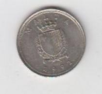 MALTE- 2 CENTS 1991 - Malta