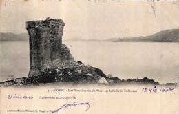 France - 20 - Corse - Une Tour Genoise De Phare Sur Le Golfe De Saint-Florent - Andere Gemeenten
