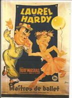 CPM, Th. Cinéma ,N°E.51, Laurel Et Hardy , Maïtres De Ballet  Avec Trudy Marshall , Ed. F. Nugeron - Posters Op Kaarten