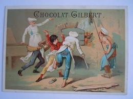 Chromo Chocolat Gilbert Cuesmes-lez-Mons Kinderen Oven Bakker Enfants Four Boulanger Form 15,3 X 10,8 Cm Litho Gouweloos - Andere