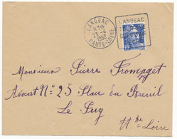 HAUTE LOIRE ENV 1952 LANGEAC OMEC DAGUIN LANGEAC TOURISME CURE D AIR PECHE - 1921-1960: Modern Tijdperk