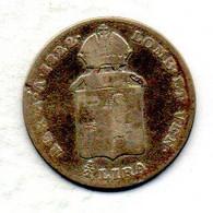 ITALIA - LOMBARDO-VENETO, 1/2 Lira, Silver, Year 1822-M, KM #5.2 - Lombardie-Vénétie
