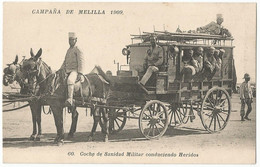 Spain España Postcard Uncirculated Campaña De Melilla 1909 Coche De Sanidad Militar - Melilla