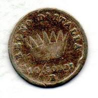 ITALIA - REGNO DI NAPOLEONE, 10 Soldi, Silver, Year 1813-B, KM #C6.3 - Cisalpin Republic / Italian Republic