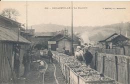 Decazeville (12 Aveyron) La Buscalie - Mine - Minerai Transporté Par Wagons - édit. Barthe N° 219 - Decazeville
