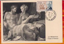 """CM-Carte Maximum Card #1966-France # Musique #Gabriel Faure (N° Yv. 1473) Compositeur """"Ulysse Et Pénélope"""",Fontainebleau - 1960-69"""