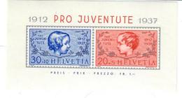 SVIZZERA 1937 - PRO JUVENTUTE - TESTE DI BIMBI FOGLIETTO - MNH ** - Nuevos