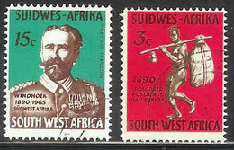 SWA, 1965 ,  Cancelled Stamp(s),  Windhoek, M325-326, Scannr 611 - Africa Del Sud-Ovest (1923-1990)