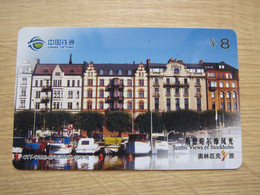 China Railcom Prepaid Phonecard,Special Issued, Footprints Of Olympic Games,Stockholm, Mint Expired From Set Of 26 - Chine
