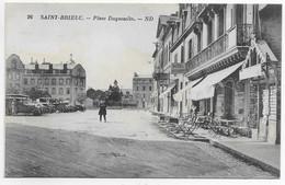 CPA 22 SAINT BRIEUC PLACE DUGUESCLIN  ** CLICHE  RARE ** - Saint-Brieuc
