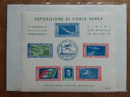 REPUBBLICA - Erinnofili - Expo Di Posta Aerea - Foglietto Ricordo Crociera Nord Atlantica - Nuovo ** + Spese Postali - Blocks & Sheetlets
