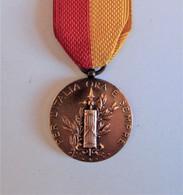 """Rare 1923, """"Ricordo Della Marcia Su Roma - Per L'Italia Ora E Sempre"""", Bronze Italian Fascist Medal - Militari"""