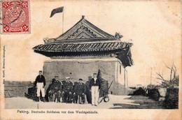 Chine - Pekin - Soldats Allemands Devant Le Corps De Garde - Chine