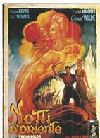 CPM, Th. Cinéma ,N°E.27 ,, Nuits D' Orient , Cornel Wilde , Adele Jergens ,Réal. Alfred E. Green ,  Ed. F. Nugeron - Posters Op Kaarten