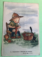 Moloch Squadriglia Aquile Legge Scout N. 9 Cartolina Antica - Scouting
