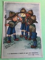 Moloch Squadriglia Aquile Legge Scout N. 4 Cartolina Antica - Scouting