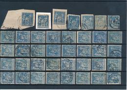 FRANCE - N°90X39 OBLITERES POUR ETUDE DES TEINTES ET DES OBLITERATIONS - 1878 - COTE MINI : 78€ - 1876-1898 Sage (Type II)