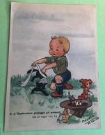Moloch Squadriglia Aquile Legge Scout N. 6 Cartolina Antica - Scouting