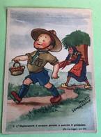 Moloch Squadriglia Aquile Legge Scout N. 3 Cartolina Antica - Scouting