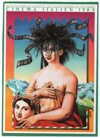 AFFICHE RENCONTRES À ANNECY DU CINEMA ITALIEN ILLUSTRATEUR KAVIIIK ANGELOT 1984 CPM  Impeccable - Posters Op Kaarten