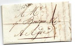 Lettre / De  Toulouse / Pour Agde / 1811 - 1801-1848: Precursori XIX