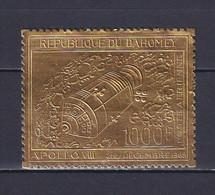 DAHOMEY 1969, Mi# 386, CV €25, Golden Foil, Space, MNH - Benin - Dahomey (1960-...)