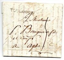 Lettre / De  Toulouse / Pour Agde / 8 Janvier 1812 - 1801-1848: Precursori XIX