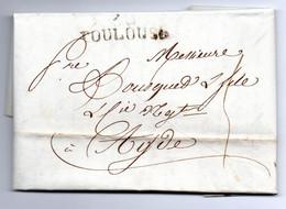 Lettre / De  Toulouse / Pour Agde / 8 Janvier 1819 - 1801-1848: Precursori XIX