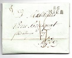 Lettre / De Nice / Pour Agde / 25 Ventose An 13 - 1801-1848: Precursori XIX