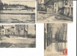 21 - Lot De 4 Cartes Postales De CHATILLON-sur-SEINE ( Côte-d'Or ) - Inondations Des 20 Et 21 Janvier 1910 - Chatillon Sur Seine