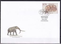 SLOVENIA 2018,,FOSSIL MAMMALS OF SLOVENIA,MASTODON,MNH - Fossiles